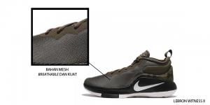 Sepatu Lebron Witness II berbahan mesh