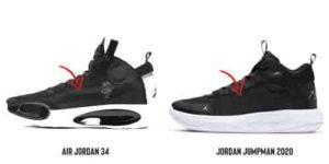 Air Jordan 34 VS Jordan Jumpman 2020