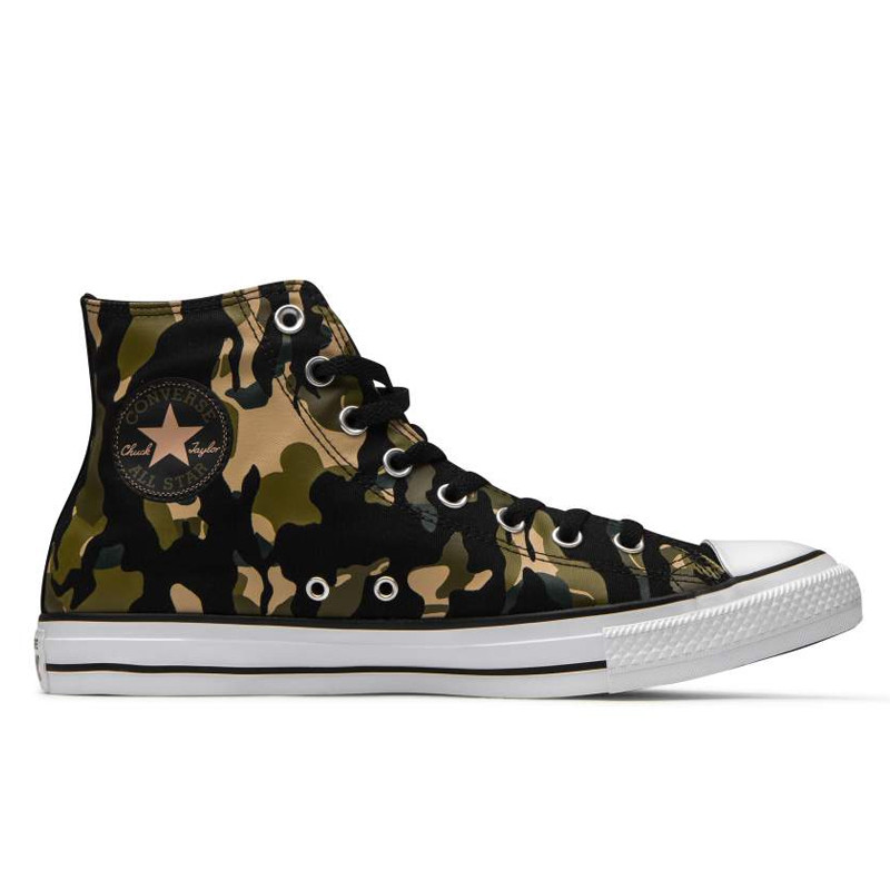 Sepatu sneakers CONVERSE Chuck Taylor All Star Wordmark and Camo Print Hi