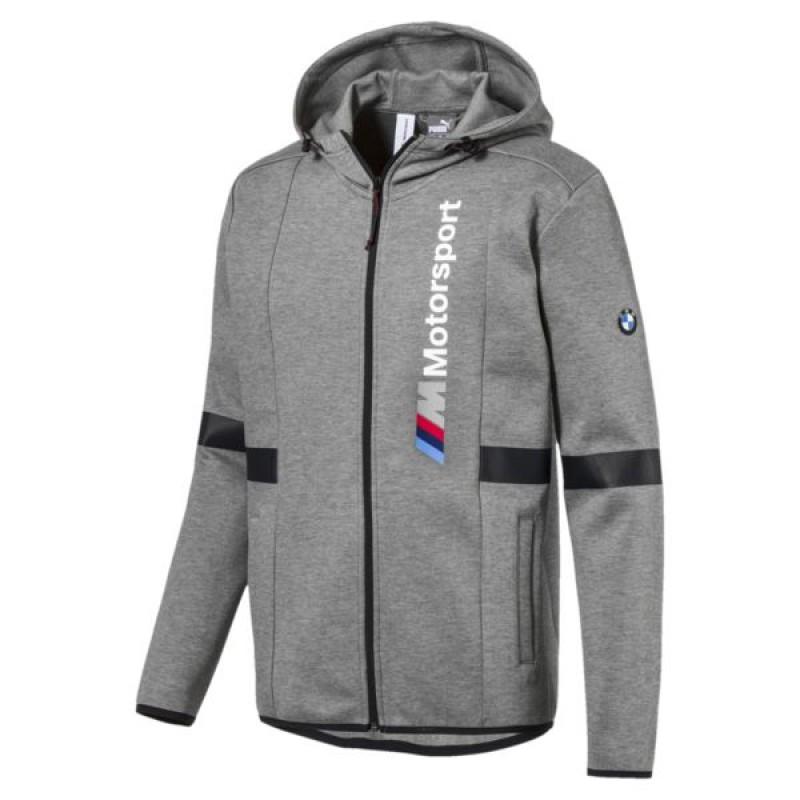 Jual Pakaian Casual Puma Bmw Zip Up Hoodie Grey Original