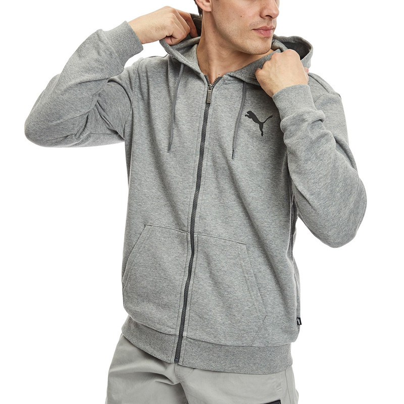 Baju sneakers Puma Core Essentials Full-Zip Hoodie