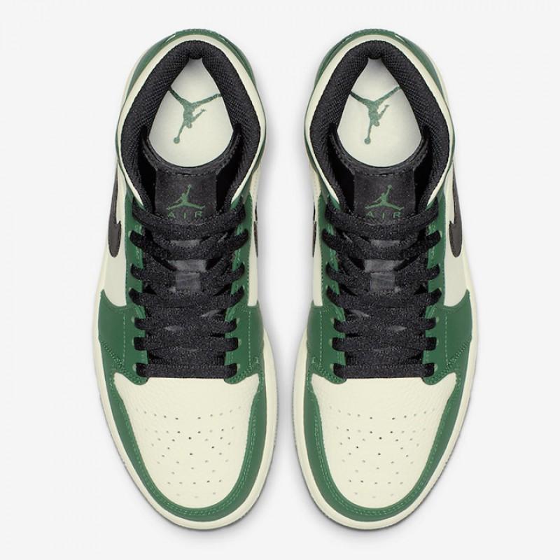 6f9a3d59c6b767 Jual Sepatu Basket Jordan AJ 1 Mid Pine Green Original