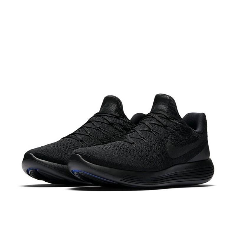 0be6e330cbf6 Jual Sepatu Lari Nike LunarEpic Low Flyknit 2 Triple Black Original ...