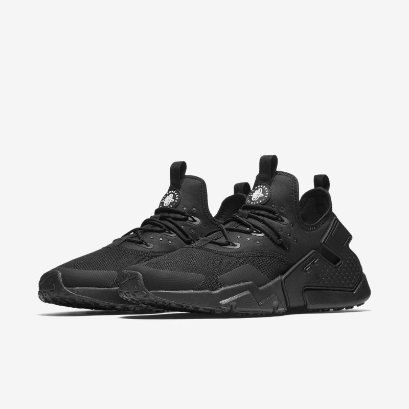 Sepatu Sneakers Nike Air Huarache Drift Triple Black
