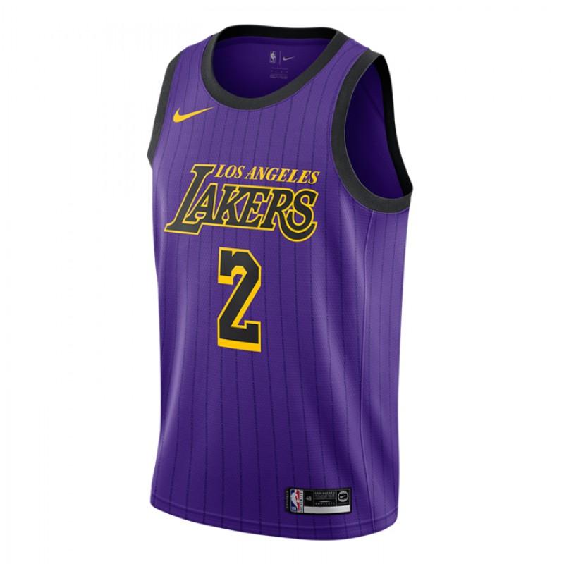 717f3c2af2e2 Pakaian Basket Nike Lonzo Ball City Edition Swingman Jersey Purple IDR  899