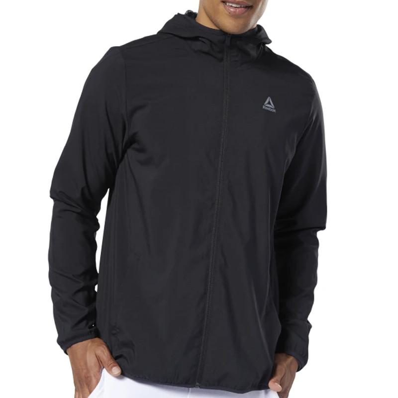 Jual Baju Training REEBOK Essentials Woven Jacket Black ...