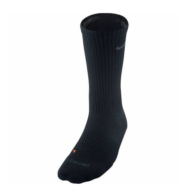 Jual Kaos Kaki Casual Nike Dri Fit Half Cushion Crew Socks Black
