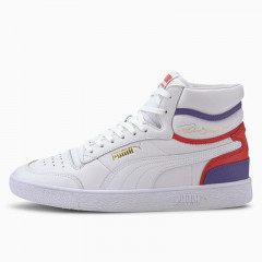 Sepatu Sneakers Puma Ralph Sampson Mid Trainers High Risk Red
