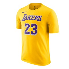 Pakaian Basket Nike LeBron James Los Angeles Lakers Icon Edition Tee Yellow