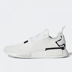 52a3e6bd477 Sepatu Sneakers Adidas NMD R1 White Black