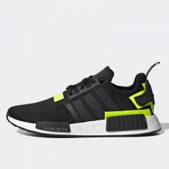 ceafa3a91594 Sepatu Sneakers Adidas NMD R1 Black Volt White