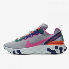 11c3d01d0aeb3 Sepatu Sneakers Nike Wmns React Element 55 Wolf Grey