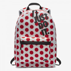 Tas Casual Nike Heritage Just Do It Backpack White Red