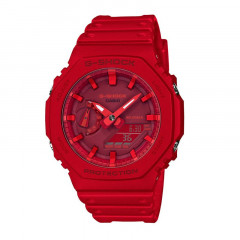G-shock Retro Style Digital Analog Dial Red Resin Strap Red