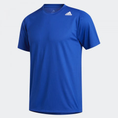 FreeLift Sport Fitted 3-Stripes Tee Royal Blue